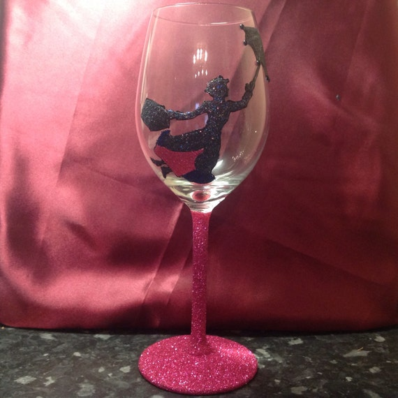 Large white wine glass featuring mary poppins for Large white wine glasses