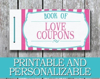 printable love coupon book diy gift for her anniversary gift for her diy - Last Minute Valentines Gifts For Him