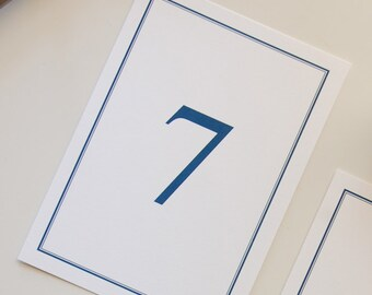 Traditional Wedding Table Numbers | Nautical Table Number, Navy Wedding Table Number, Wedding Reception Table Number, Simple Table Number