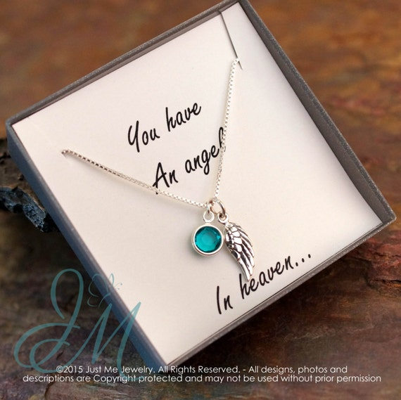 Remembrance Memorial Necklace - Child / Infant Loss - You have an angel in heaven
