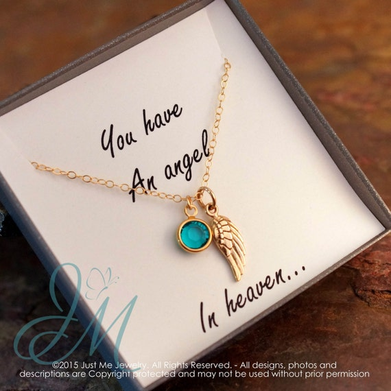 Memorial Necklace - Remembrance Jewelry - You have an angel in heaven