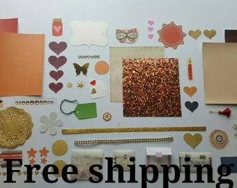 Sparkles kit. Smash journal kit. Junk journal kit. Art journal kit. Art journal kit. Sparkly kit. Free shipping.