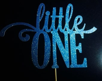 Little One glitter cake topper (choose your color)