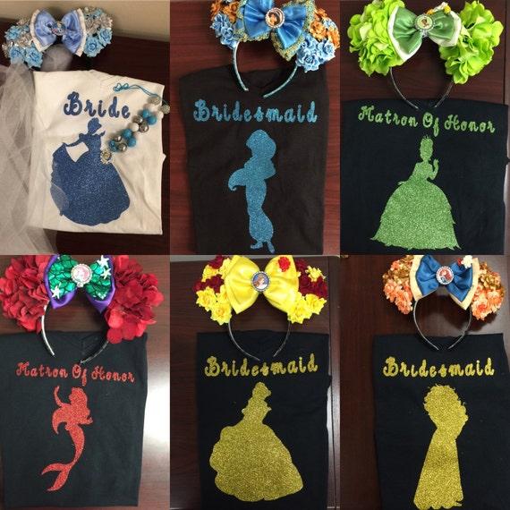 Disney Princess Bridal Shirts