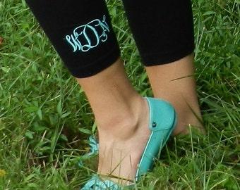 Girls Monogrammed Leggings