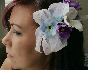 Floral Hair Clip, wedding floral hair clip, hair accessories