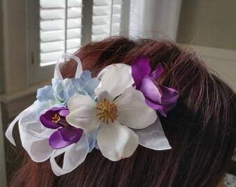 Floral Hair Clip, wedding floral hair clip