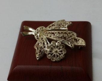 Filigree 800 silver brooch bouquet SB157