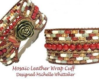 Mosaic Leather Wrap Cuff Bracelet Tutorial PDF
