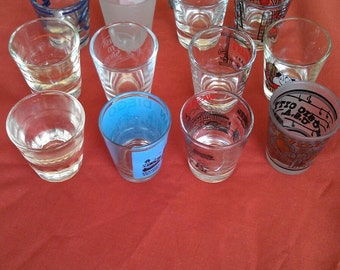 Shot Glass Collection Lot of 12