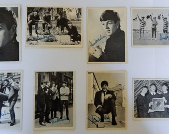 1964 Series 1 Beatles Trading Cards (8 Paul McCartney facsimile signed cards)