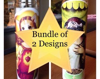 Bundle of 2 Holy Prayer Candles [Free Shipping!]