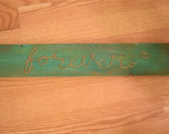 "Wood and Twine sign ""Forever"""