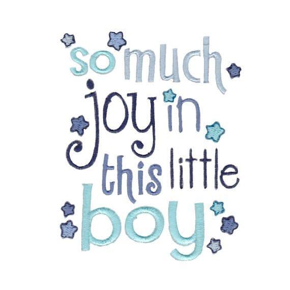 So Much Joy In This Little Boy Baby Boy Bodysuit By