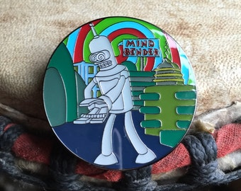 Mind bender hat pin