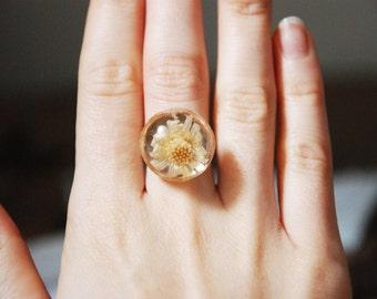 Handmade Flower Resin Ring