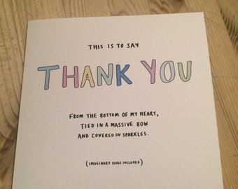 Thank You | with Custom Envelope | Thank You Card
