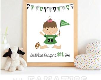 Southlake Carroll High School Dragons - Baby Cheerleader Art Print