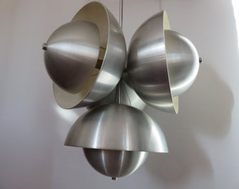 very rare chandelier suspension VERNER PANTON mid century lamp 1970 70's vintage during lamp DENMARK
