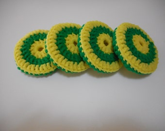 Green and Yellow Scrubbies Set