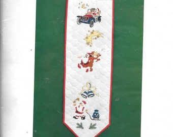 Santa At Play Hanging Banner New Christmas Unopened Embroidey Kit