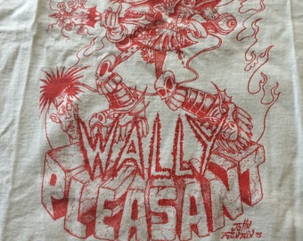 Vintage 1995 Wally Pleasant Autographed T Shirt