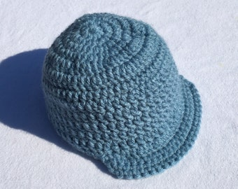 Newborn Crochet Newsboy Hat