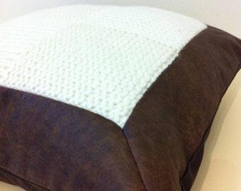 Leather & Wool Cushion