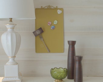 Gold Magnetic Memo Board, Magnetic Message Center, Hanging Magnetic Memo Board