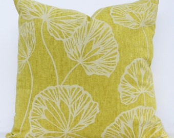 Citron Leaf Pillow Cover - 18 x 18