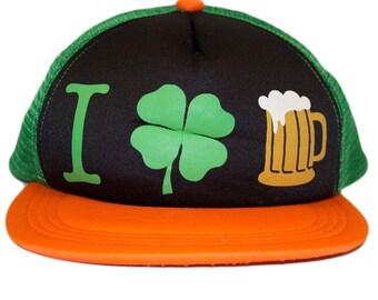 St. Patrick's Day I Shamrock Beer Snapback Hat