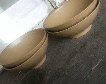 Clearance Vintage bowls Boontonware brown kitchen bowls mid century modern bowls
