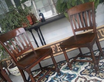 Set of 12 chairs Vintage dining chairs wood  kitchen chairs America made Taylor company Painted to Order