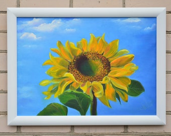 Sunflower Oil Painting , Sunflower Wall Decor , Fine Original Art , Flower  Painting , Flower Part 18
