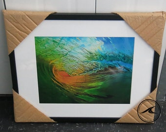 11 x 14 image frame size 21 x 17 orange crush wave art