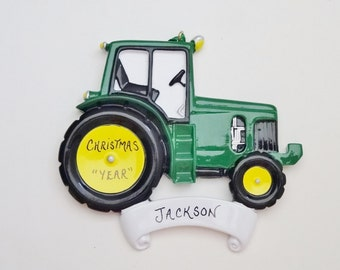 Personalized Tractor Christmas Ornament - Tractor Christmas Ornament