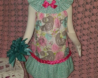 Girls peasant style dress. Ready to ship