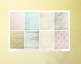 WINTER - Shabby Flakes Collection Decorating Squares - Planner Stickers