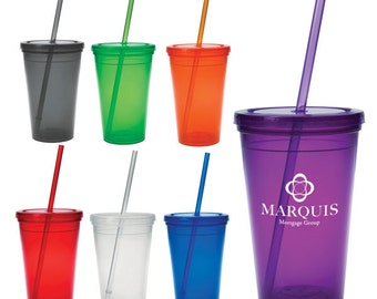 60 Personalized 16oz Double Wall Tumbler BPA Free
