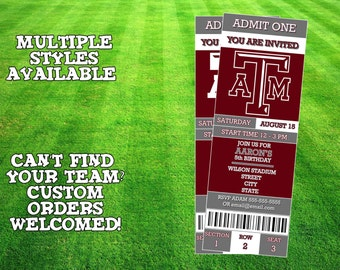 Texas A&M Aggies Invitation