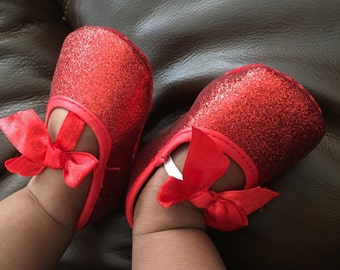 FREE SHIPPING, red glitter shoes, baby girl Fourth of July shoes red, red glitter shoes baby girl, baby girl shoes, holiday shoes baby girl