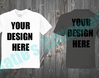 T-Shirt Design Mock Up, T-Shirt, Mock Up, Different Color T-Shirt Mock Up, Your Design Here