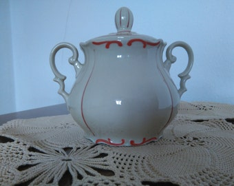 Old Sugar Bowl With Lid