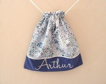 customizable Liberty adelajda blue DrawString bag