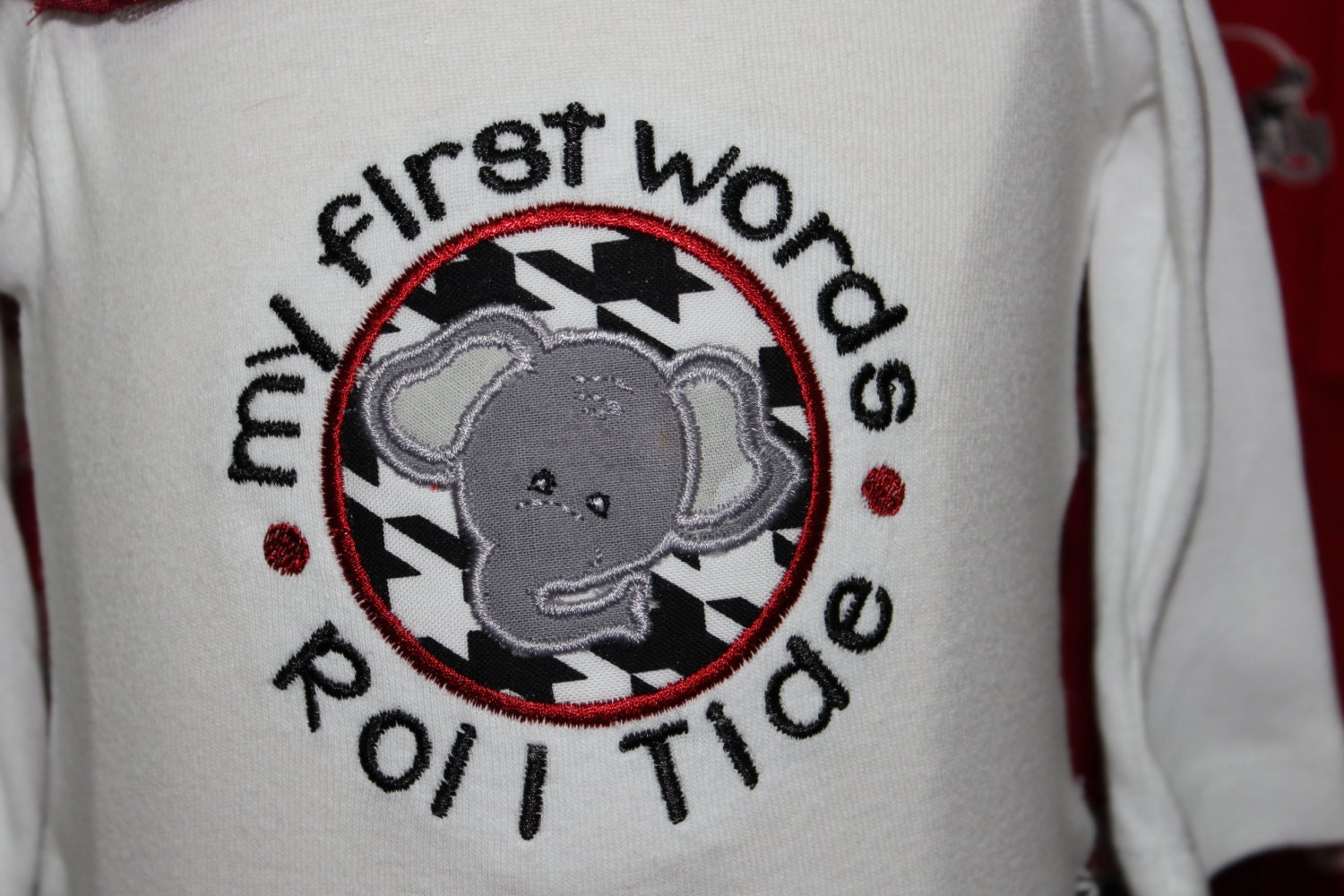 Alabama baby girl Roll Tide Crimson Tide elephant