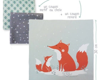 Printed Fabrics sewing - cousssin Fox - Kit