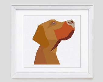 Red Setter cross stitch pattern, dog modern cross stitch pattern, red setter counted cross stitch pattern, dog cross stitch pdf pattern
