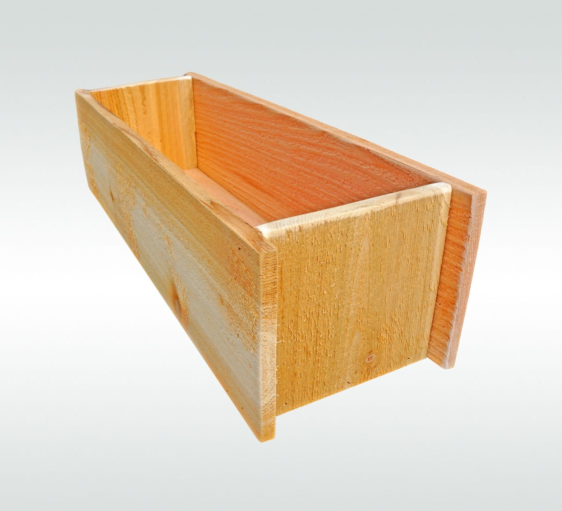 Herb Garden Cedar Wooden Window Planter Flower Box Gift For