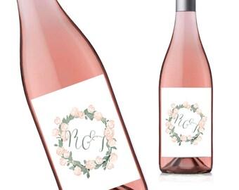 Printable Wine Bottle Labels, Bridal Shower Decoration, Baby Shower Decor, Wedding Wine Label Printable, Wine Bottle Decor TG04 WD11