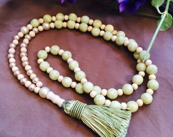 Green Goddess Tassel Necklace